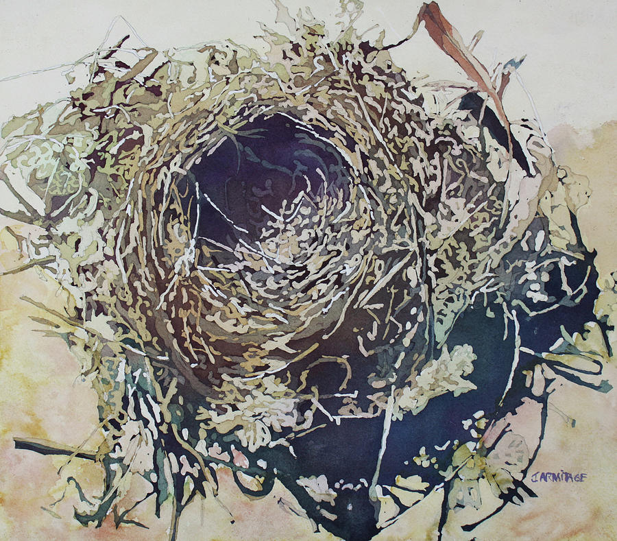Nest Painting - Empty Nest by Jenny Armitage