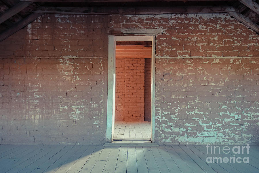 Empty Photograph - Empty Old Brick House Grafton Ghost Town by Wendy Fielding