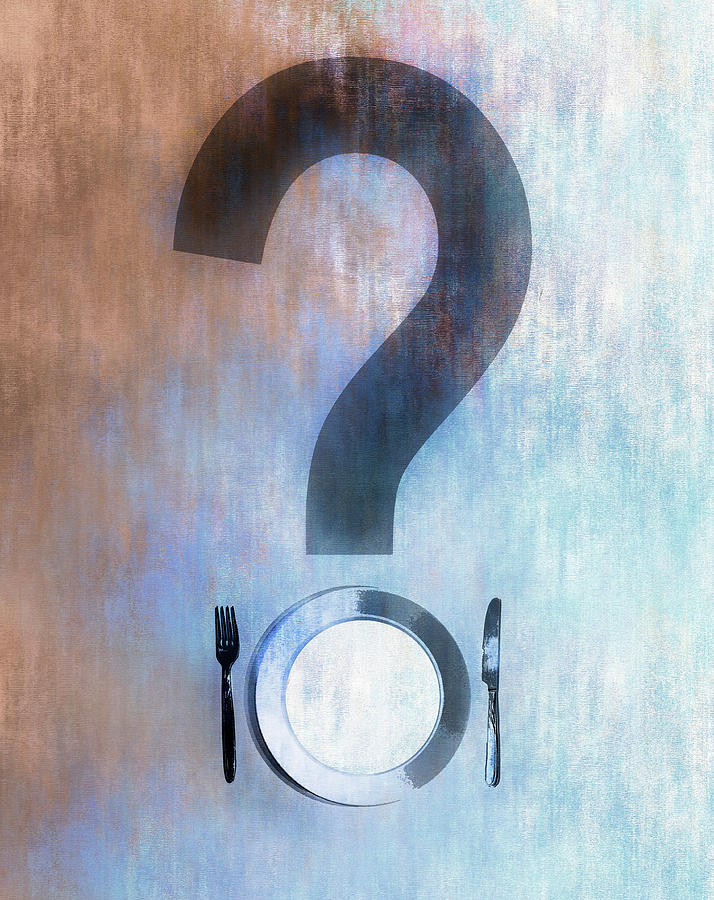 Empty Plate Forming Question Mark by IKON IMAGES