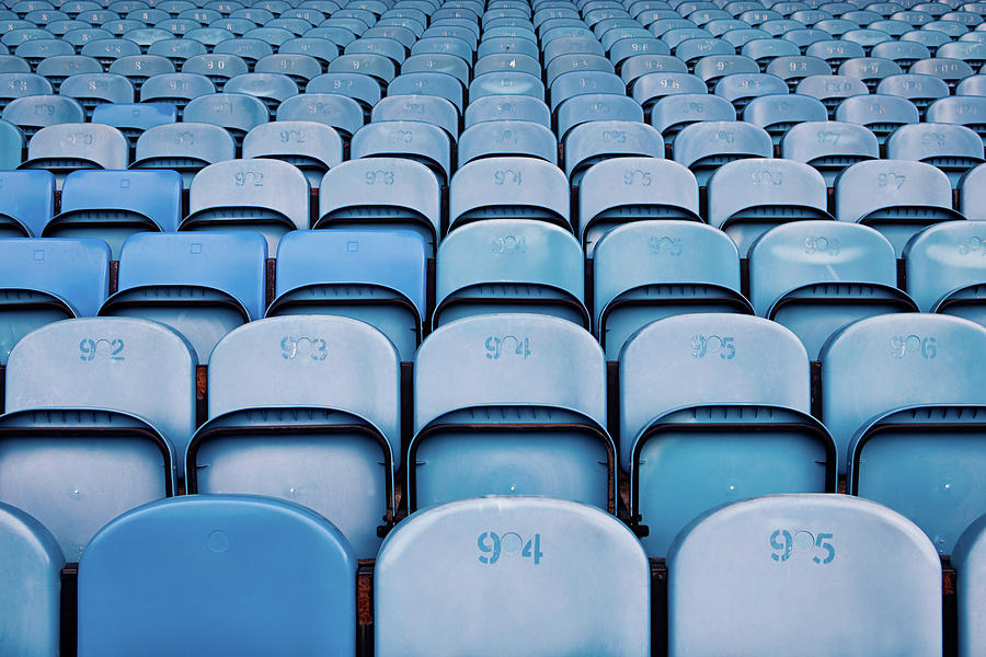 Empty Seats In Football Stadium Photograph by Image Source