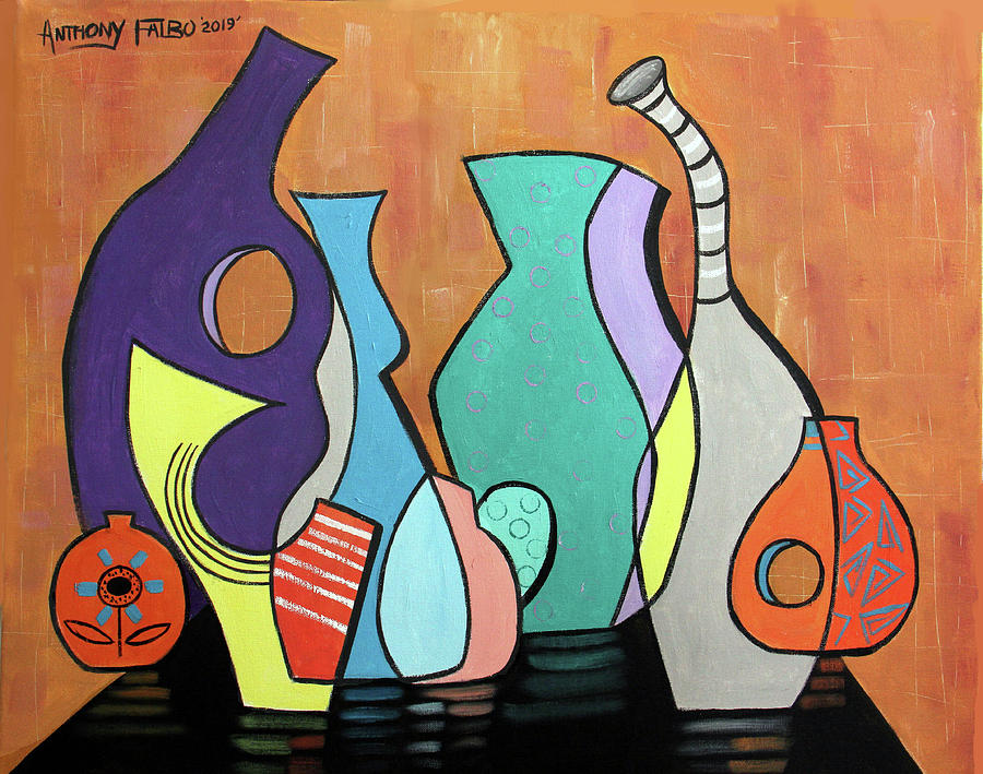 Cubism Painting - Empty Vases by Anthony Falbo