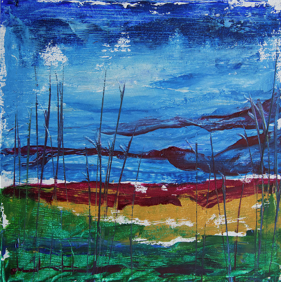 Encaustic Landscape by Jocelyn Friis