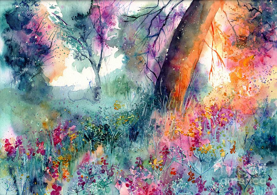 Watercolor Painting - Enchanted by Suzann Sines