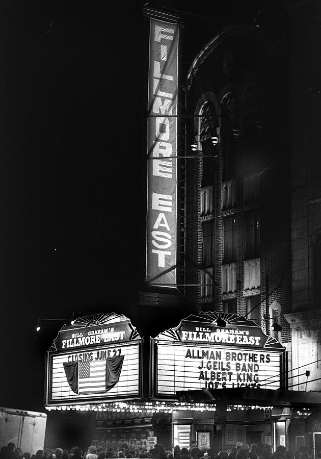 End Of An Era Fillmore East Photograph by New York Daily News Archive