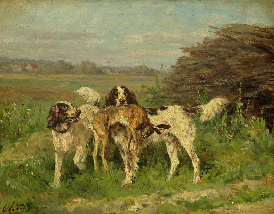 Penne Painting - End Of The Hunt by Charles-Olivier de Penne