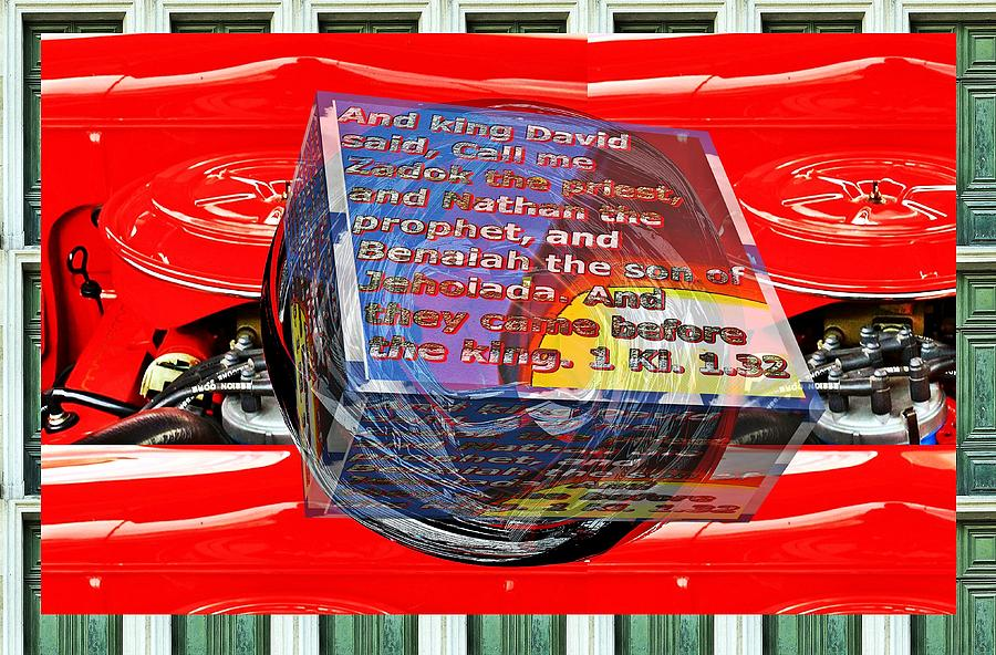 Engine box little planet warped as art with text as a box by Karl Rose