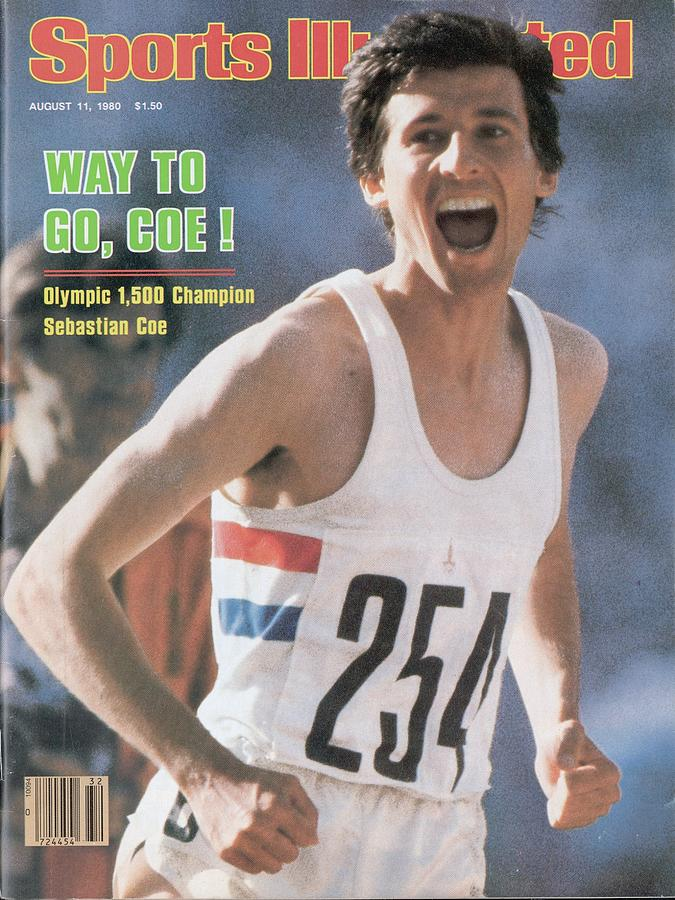 England Sebastian Coe, 1980 Summer Olympics Sports Illustrated Cover Photograph by Sports Illustrated