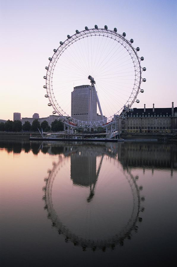 England,london,london Eye And River Photograph by Eurasia Press