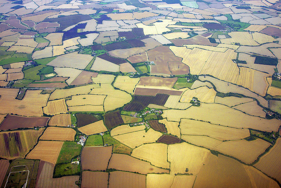 English Countryside Aerial View Photograph by Rosmarie Wirz