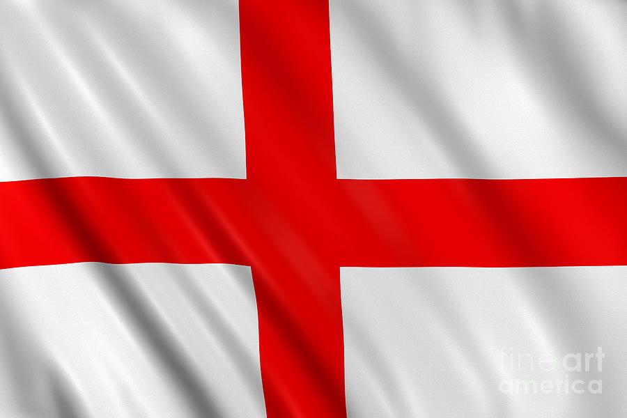 English Flag Photograph by Visual7