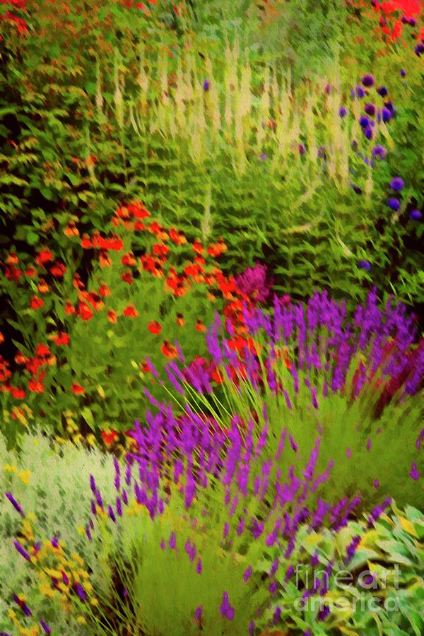 English Flower Border Art by Martyn Arnold
