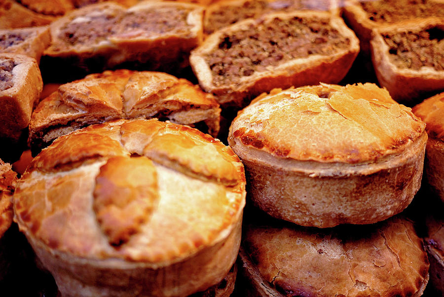 English Meat Pies Photograph by Louise Legresley