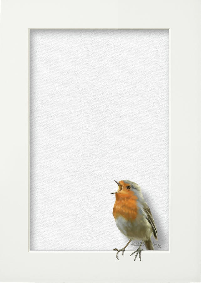 English Robin Chick by Kathie Miller