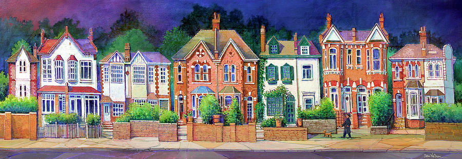 English Rowhouses Painting