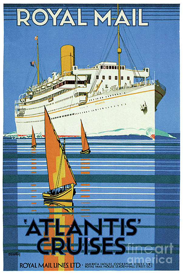 English Royal Mail Atlantis Ocean Liner by Unknown