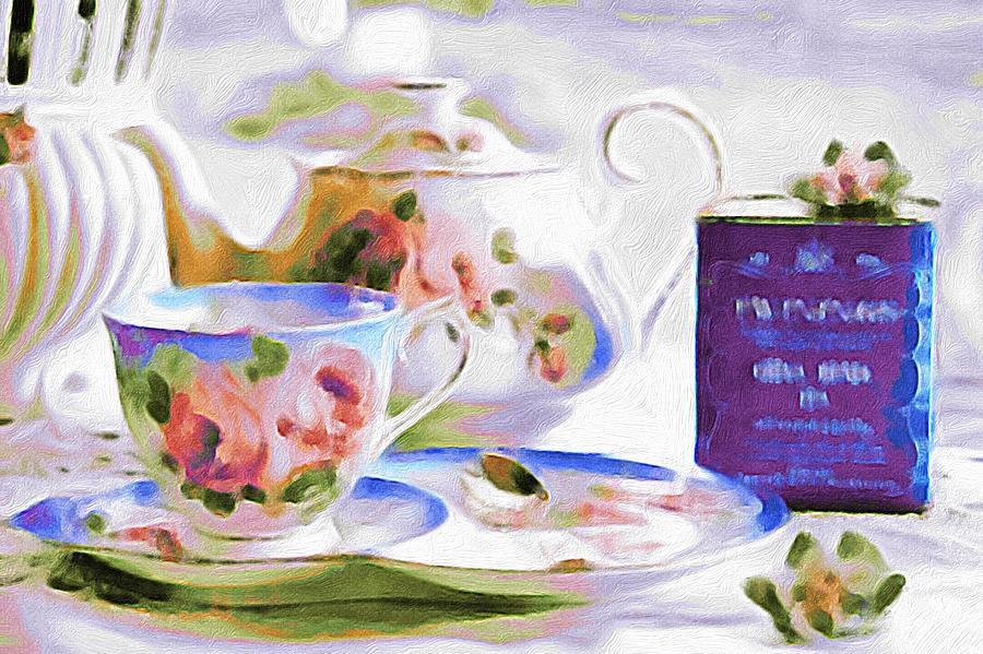 English Tea Time Purple Photograph