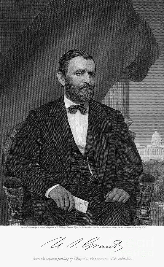 Engraved Portrait Of Ulysses S. Grant Photograph by Bettmann