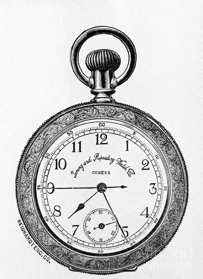 Engraving Of Pocket-style Watch Photograph by Bettmann