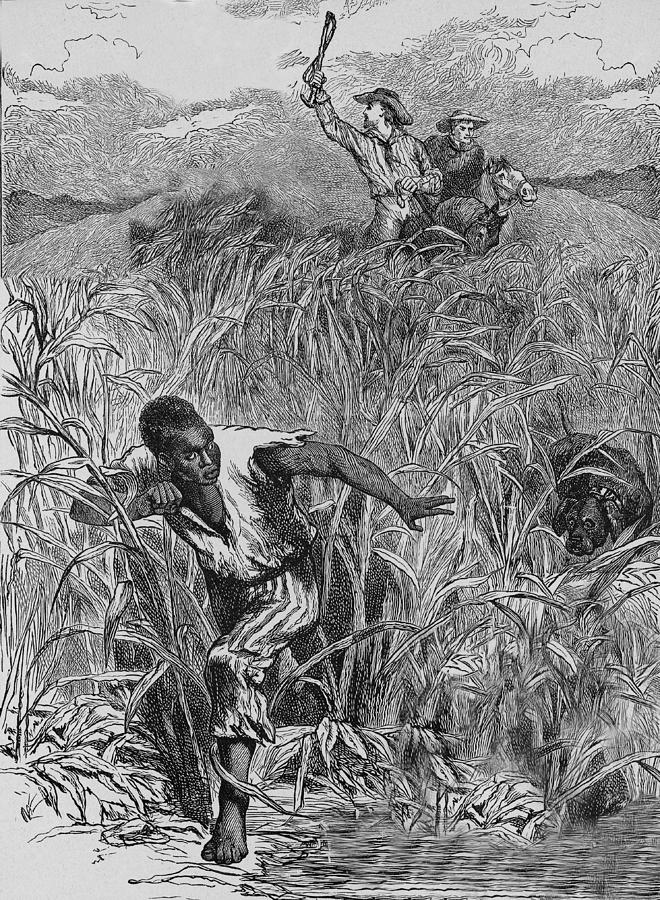 Engraving Of Slave Escape, Mid-19th Photograph by Kean Collection