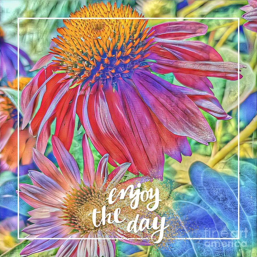Cards Digital Art - Enjoy The Day by Paola Baroni