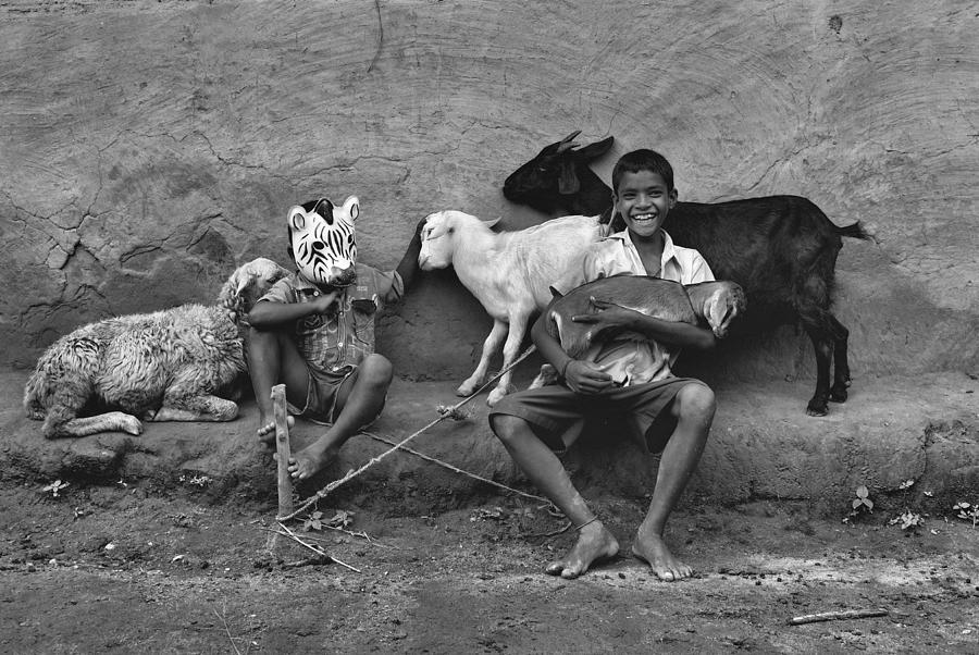 Child Photograph - Enjoying The Mood by Avishek Das