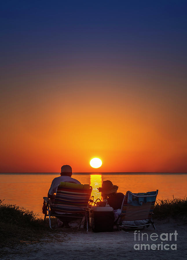 Sea Photograph - Enjoying The Sunset by Marvin Spates