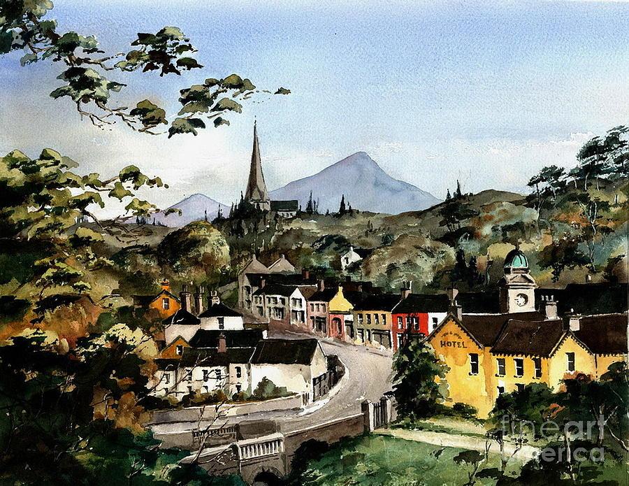 Enniskerry Village Birdseye, Wicklow. by Val Byrne