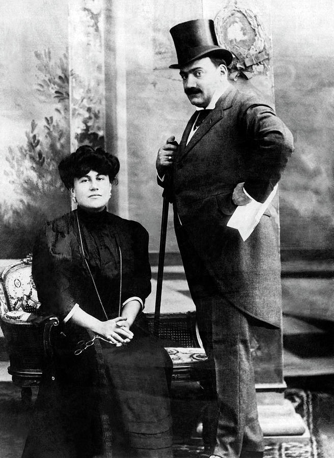 Enrico Caruso And Emmy Destinn by Underwood Archives