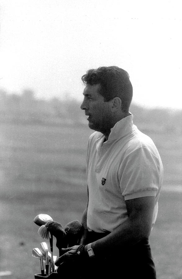 Entertainer Dean Martin Playing Golf Photograph by Allan Grant