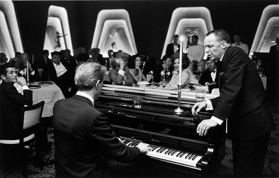 Entertainer Frank Sinatra Accompanied Photograph by John Dominis