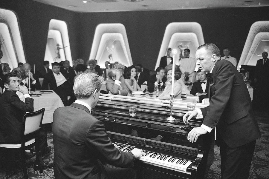 Entertainer Frank Sinatra And A Pianist Photograph by John Dominis