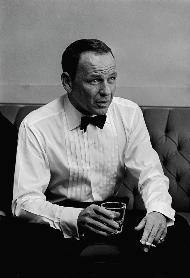 Entertainer Frank Sinatra Backstage Photograph by John Dominis