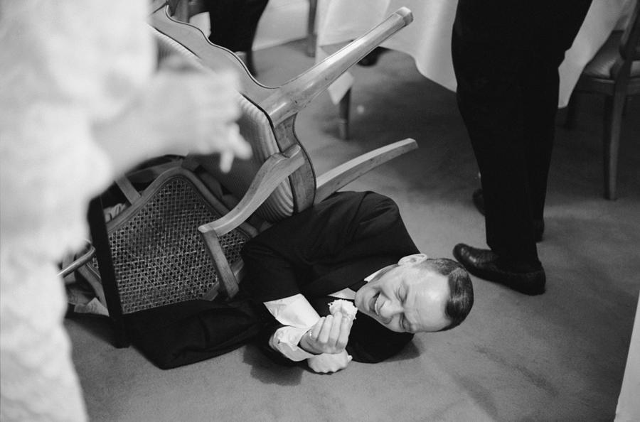 Entertainer Frank Sinatra Convulsing W Photograph by John Dominis