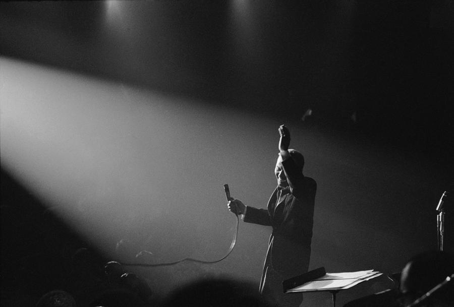 Entertainer Frank Sinatra Performing On Photograph by John Dominis
