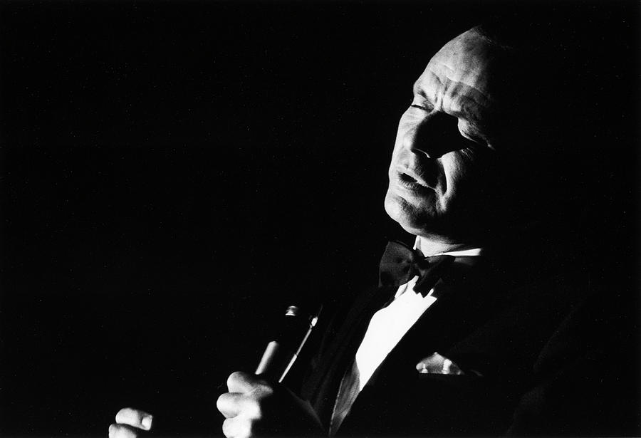 Entertainer Frank Sinatra Singing Photograph by John Dominis