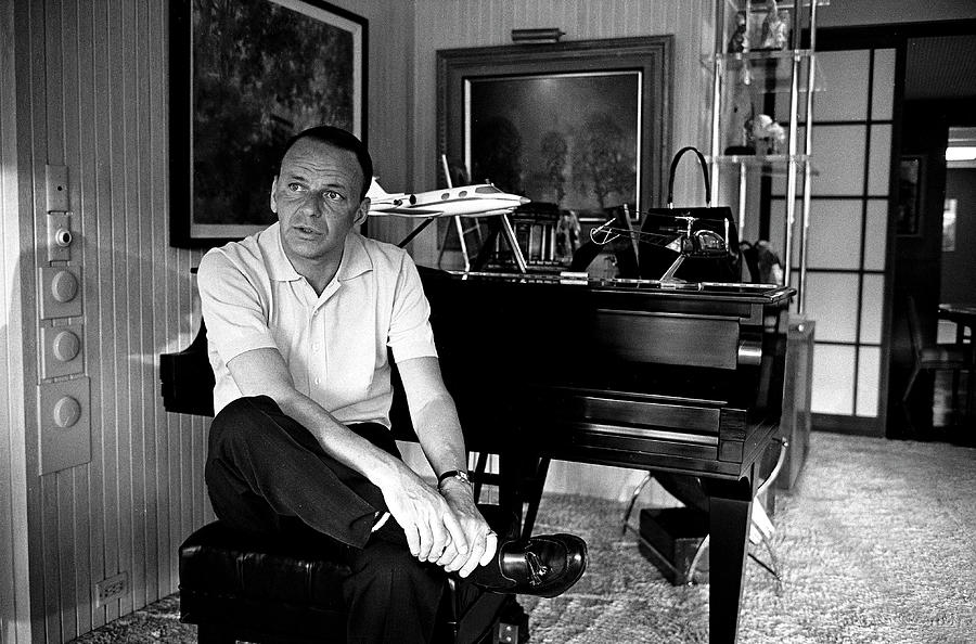 Entertainer Frank Sinatra Sitting On Photograph by John Dominis