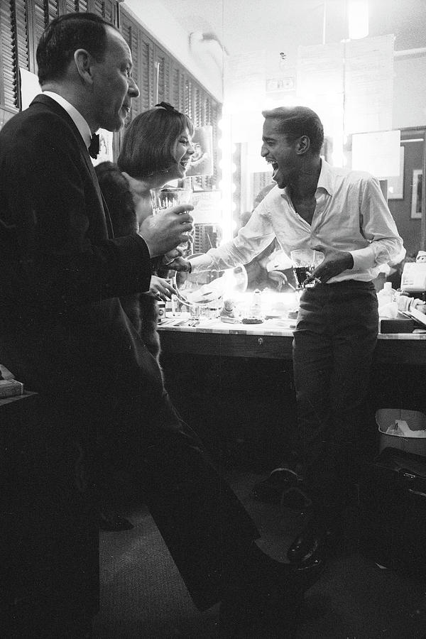 Entertainers Frank Sinatra L And Sammy Photograph by John Dominis