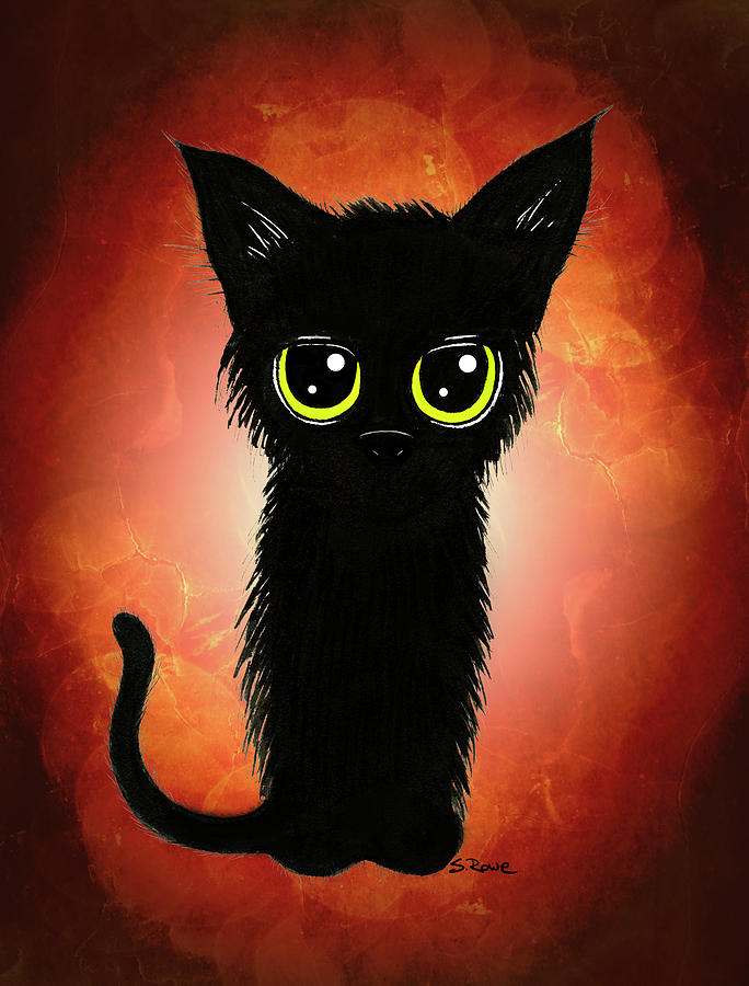 Enthralling Black Kitty 2 by Shawna Rowe