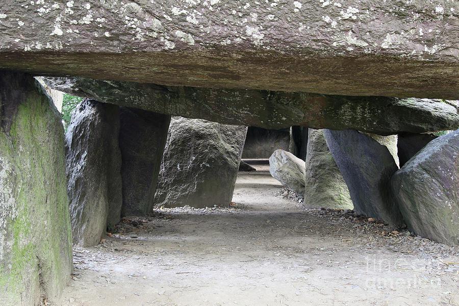 Entrance part of dolmen La Roche-aux-Fees by Michal Boubin