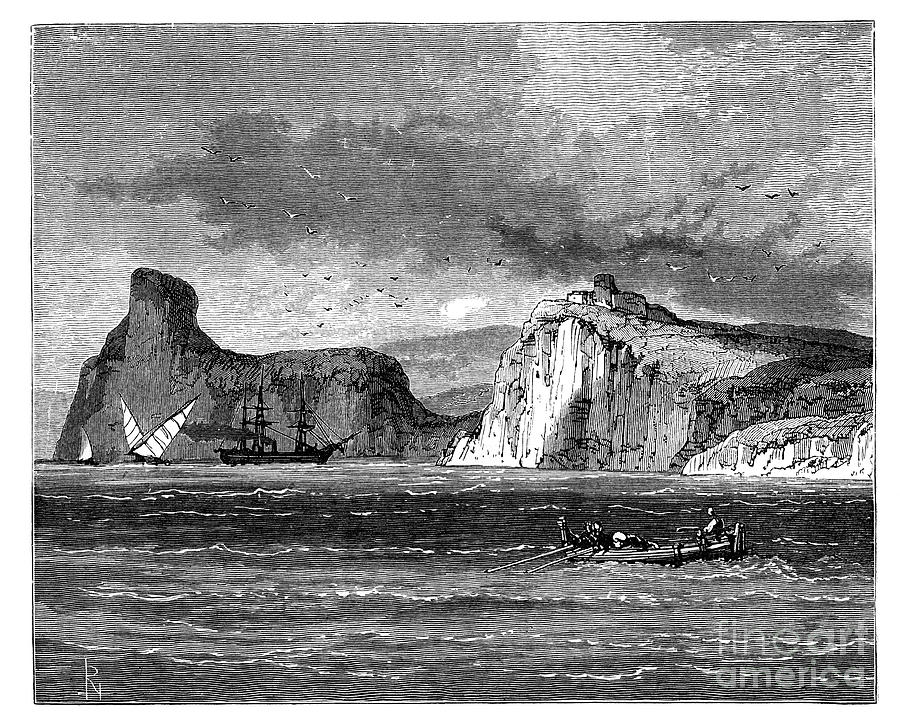 Entrance To Balaclava Harbour, Ukraine Drawing by Print Collector