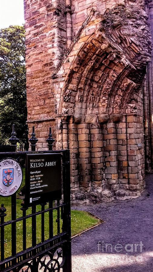 Entrance to Kelso Abbey by Joan-Violet Stretch