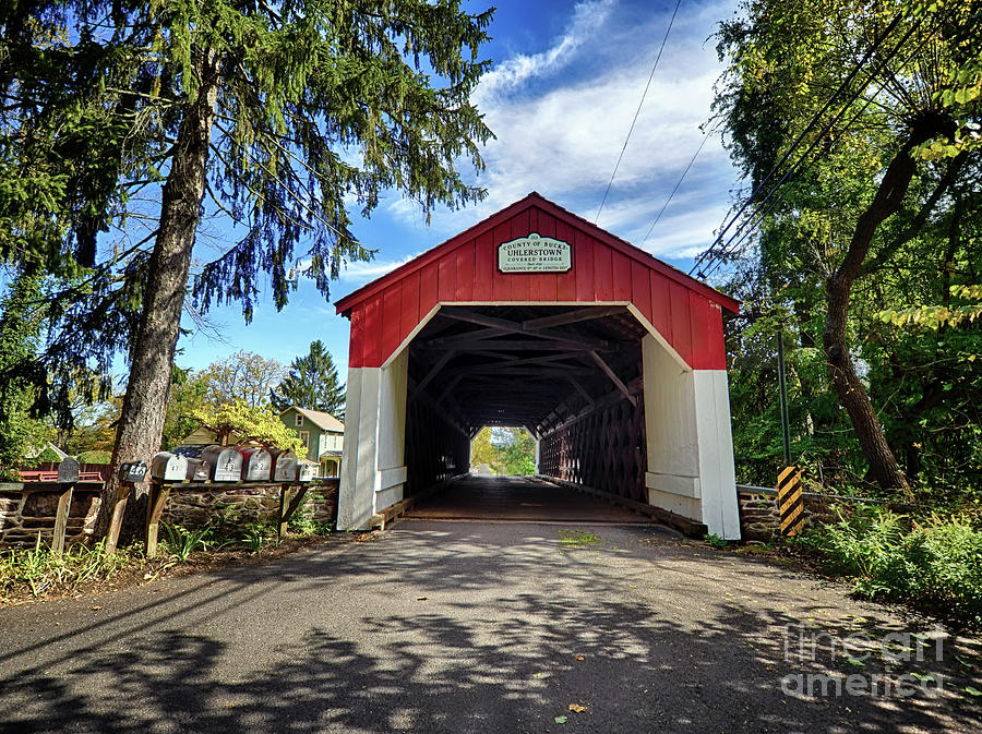 Entrance to Uhlerstown Covered Bridge by Mark Miller