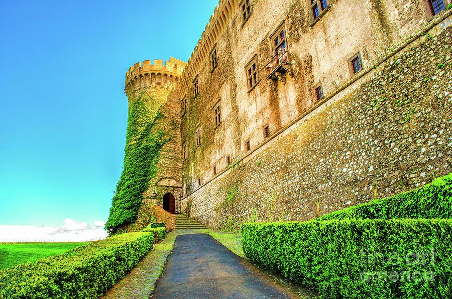 entry castle Bracciano vine plants - Bracciano castle is famous italy destination landmark near Rome in Lazio by Luca Lorenzelli