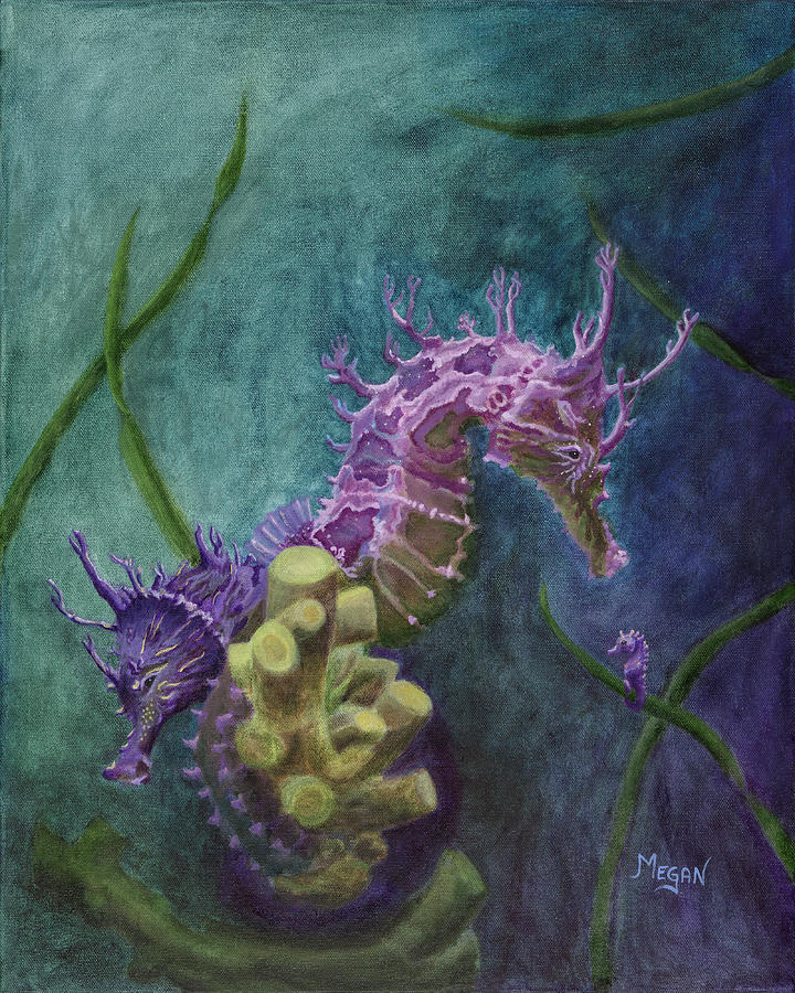 Entwined Seahorses by Megan Collins