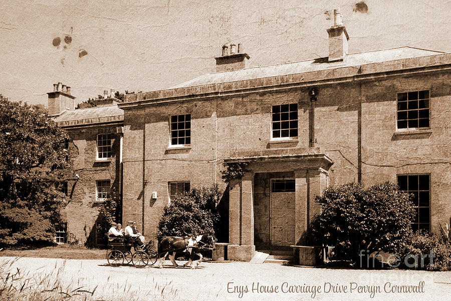 Enys House Carriage Drive Penryn Cornwall Photograph