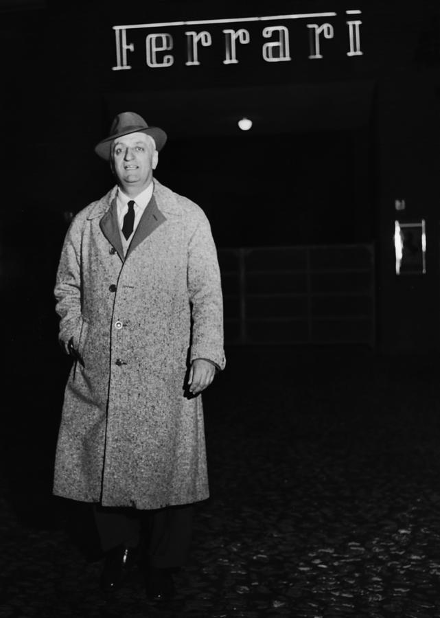 Enzo Ferrari Photograph by Keystone