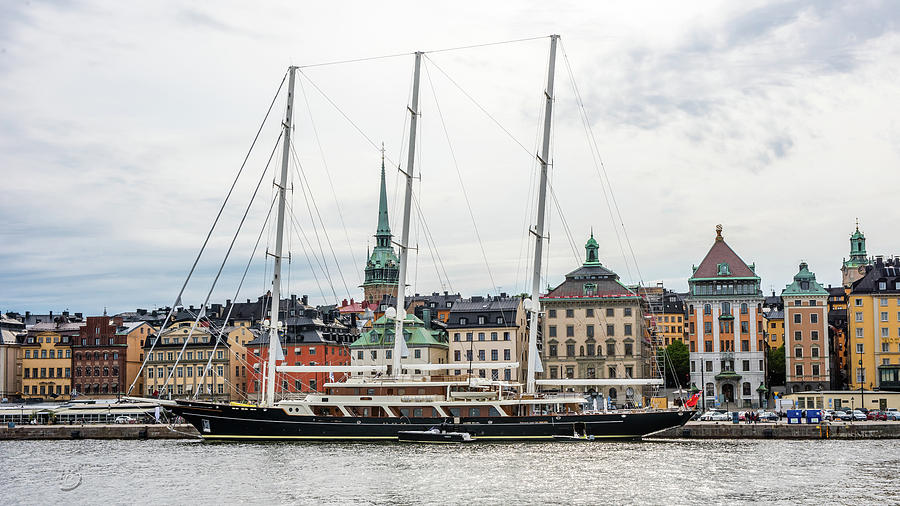 EOS in Stockholm at Skeppsbron quay with Gamla Stan in the background by Torbjorn Swenelius
