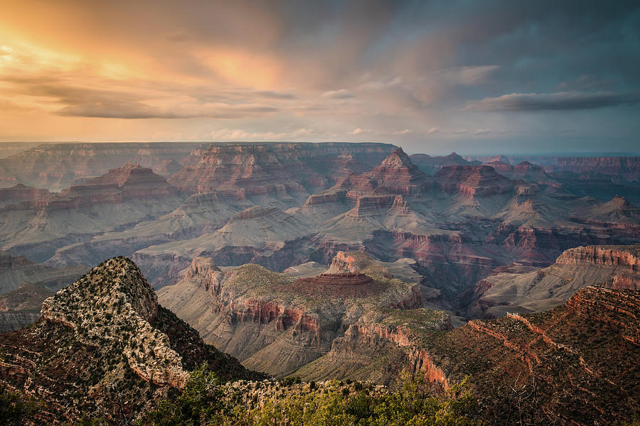 Epic Sunset Over Grand Canyon South Rim Photograph by Wayfarerlife Photography