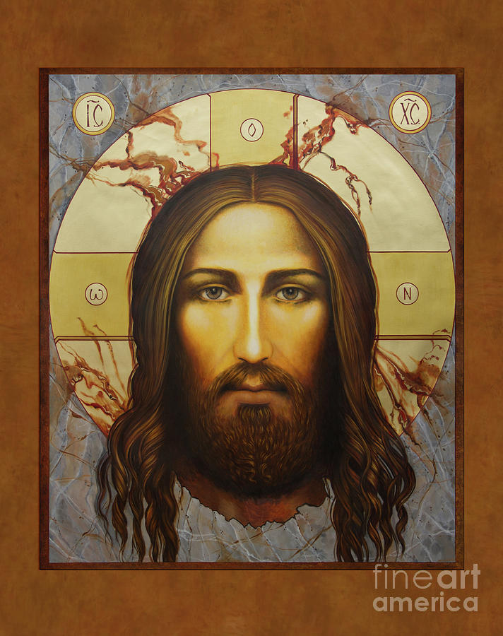 Christ Painting - Epiphany Face Of Christ by Ann Chapin