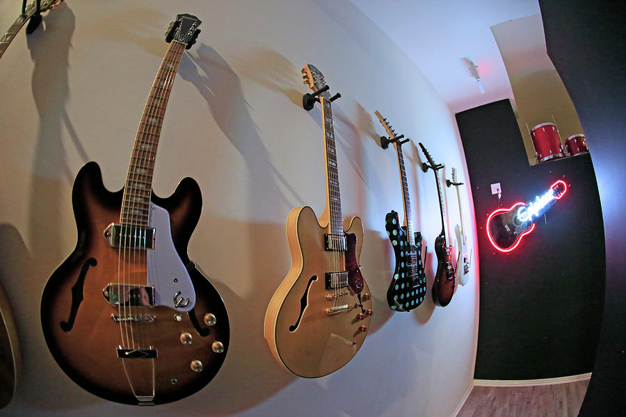 Gibson Photograph - Epiphone Collection by Shoal Hollingsworth